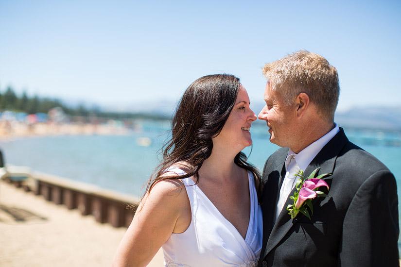 lakeside beach wedding