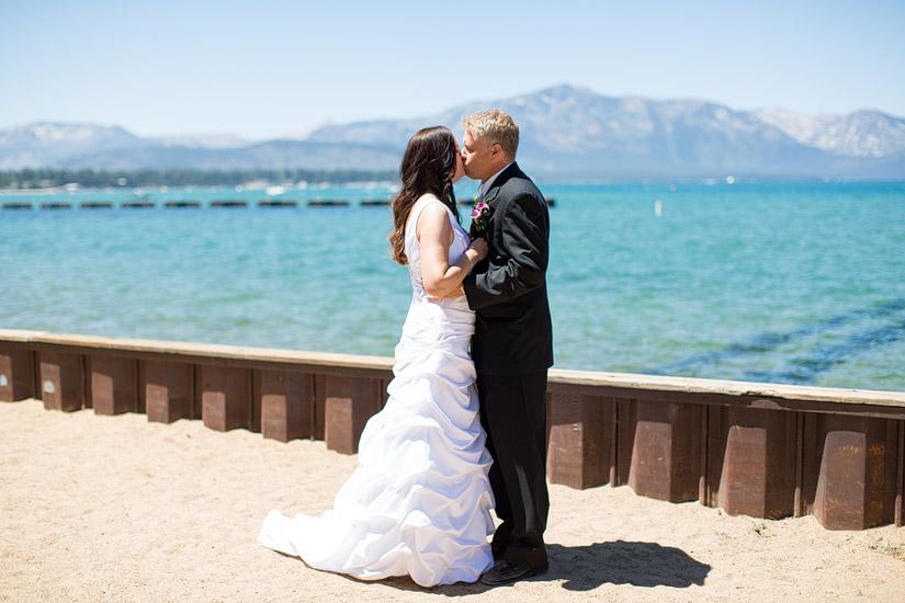 south lake tahoe beach weddings