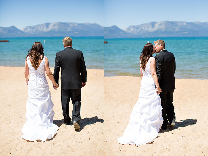 lakeside beach wedding photos