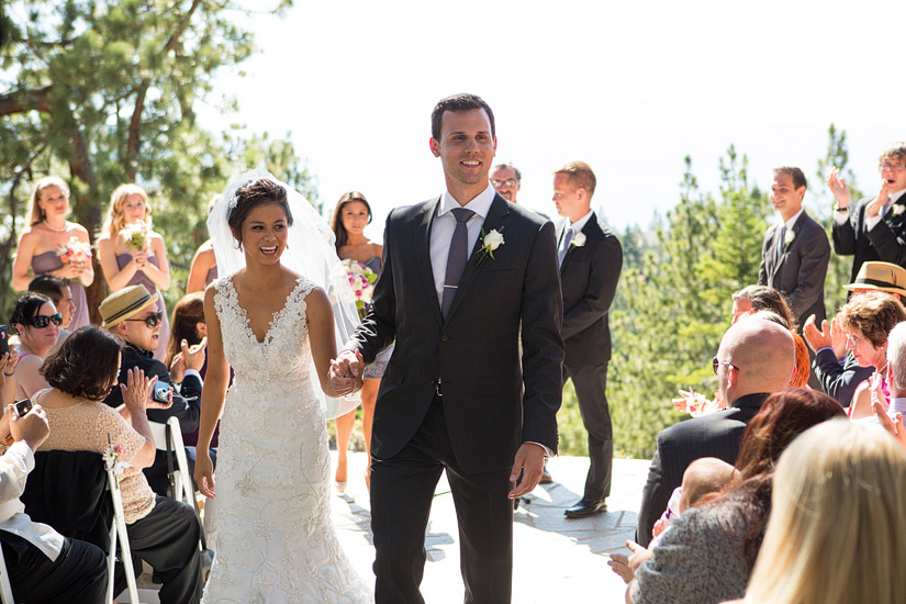 tahoe mountain home wedding ceremony