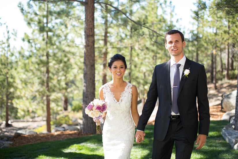 tahoe mountain home wedding photos