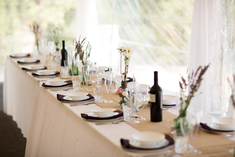 tahoe mountain home wedding reception