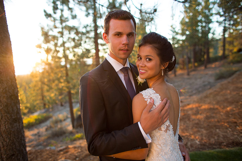 tahoe mountain home wedding