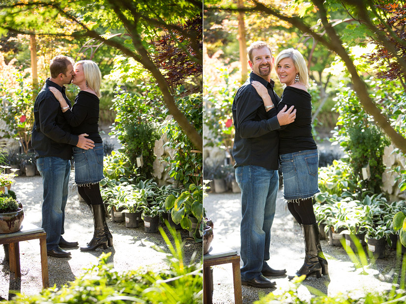 high hand nursery engagement photographer