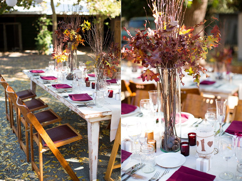 napa valley ranch wedding reception details