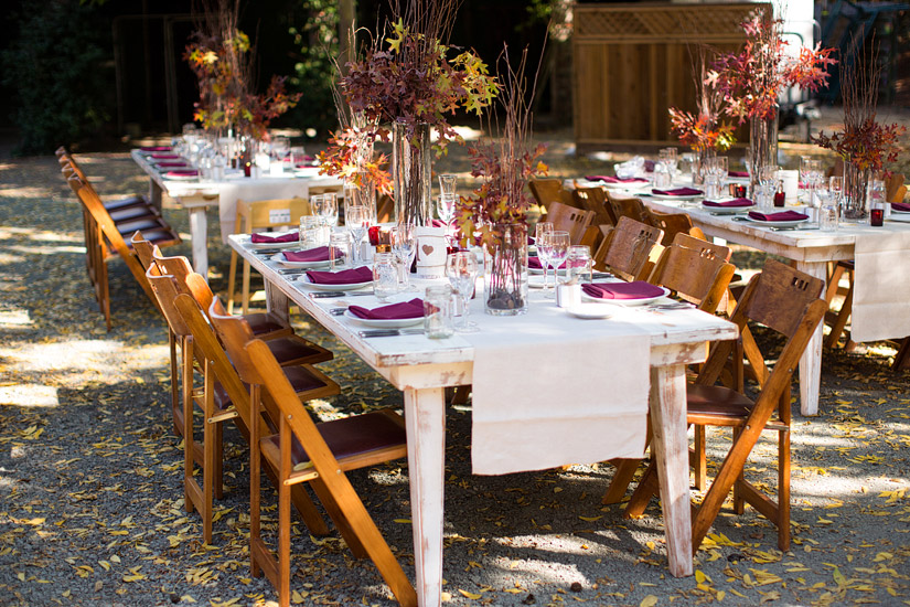 napa valley ranch wedding reception