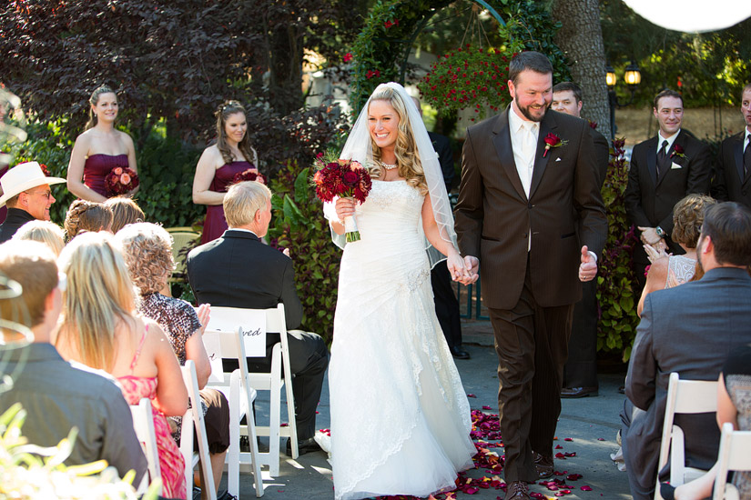napa valley ranch wedding ceremony
