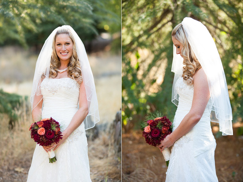 napa valley ranch wedding bridal photos