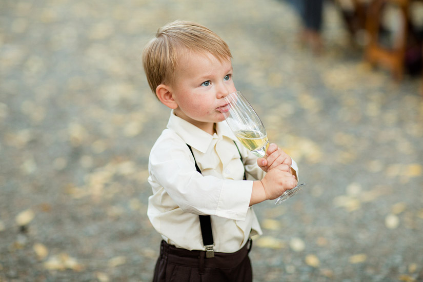 cute ring bearer at a napa wedding