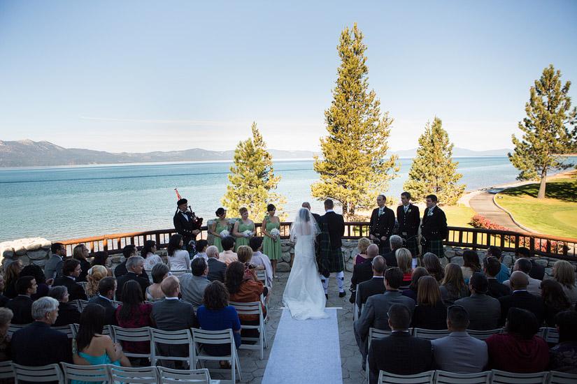 south lake tahoe beach wedding ceremony