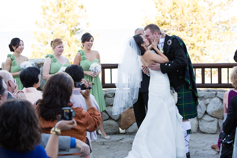 edgewood tahoe wedding ceremony photos