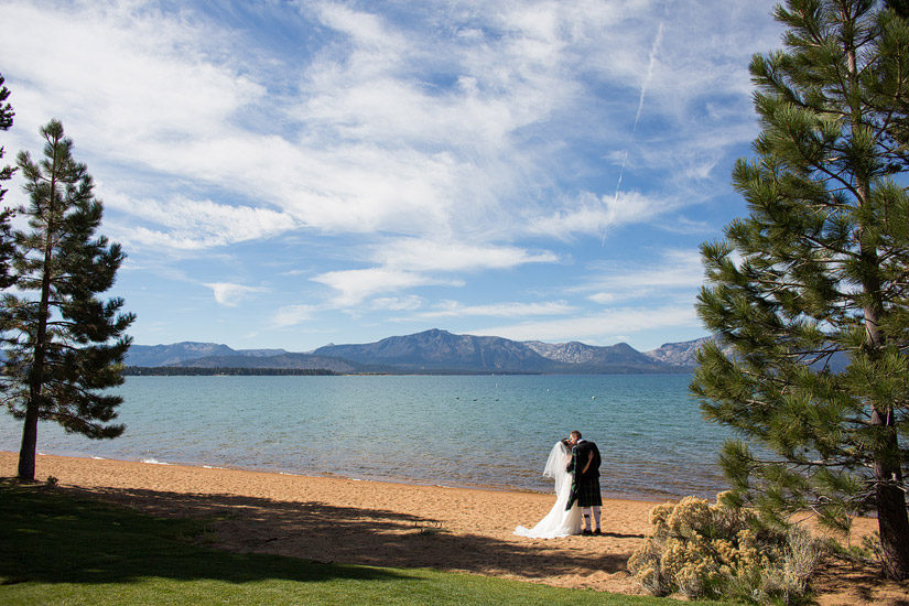 edgewood tahoe beach weddings