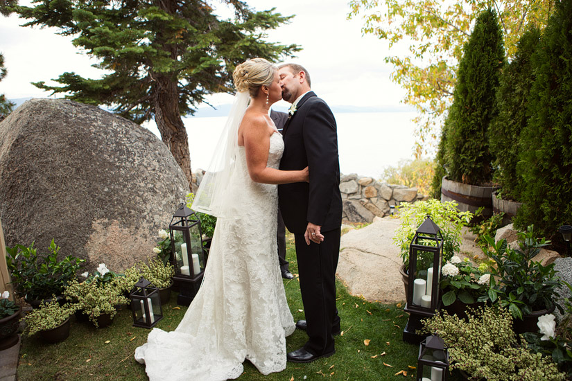 k'gari house lake tahoe wedding ceremony