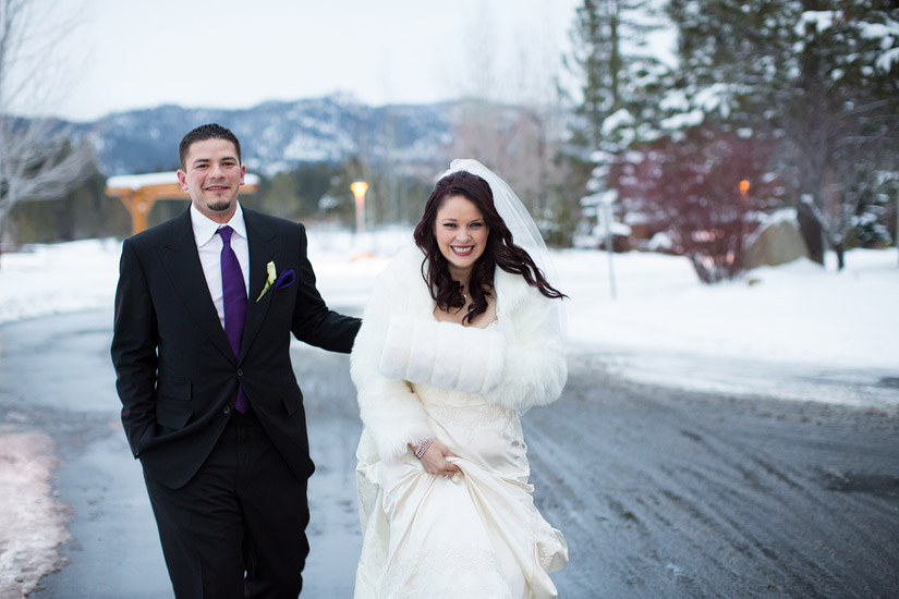 lake tahoe winter wedding photos
