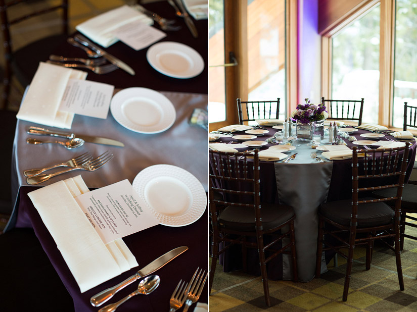 edgewood winter wedding reception
