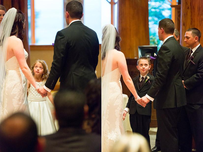 edgewood winter wedding ceremony