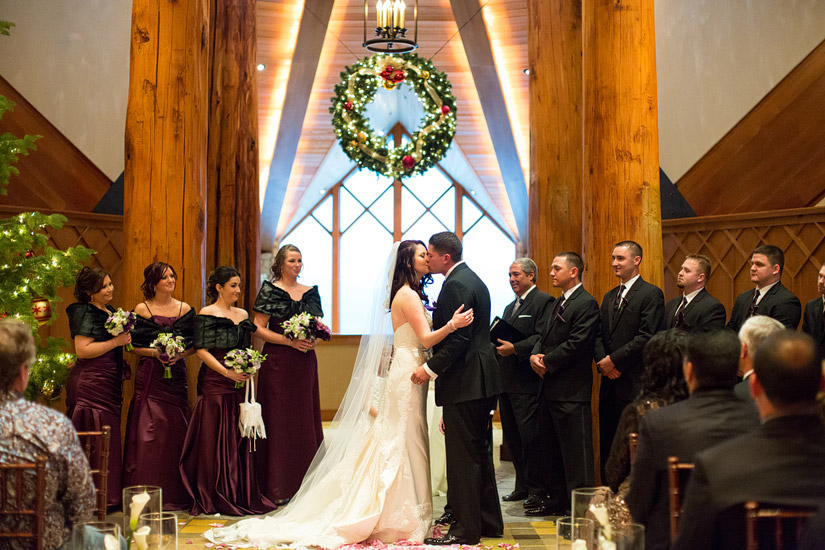 edgewood winter wedding ceremony