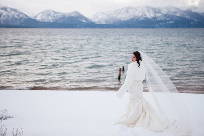 winter wedding bridal portraits