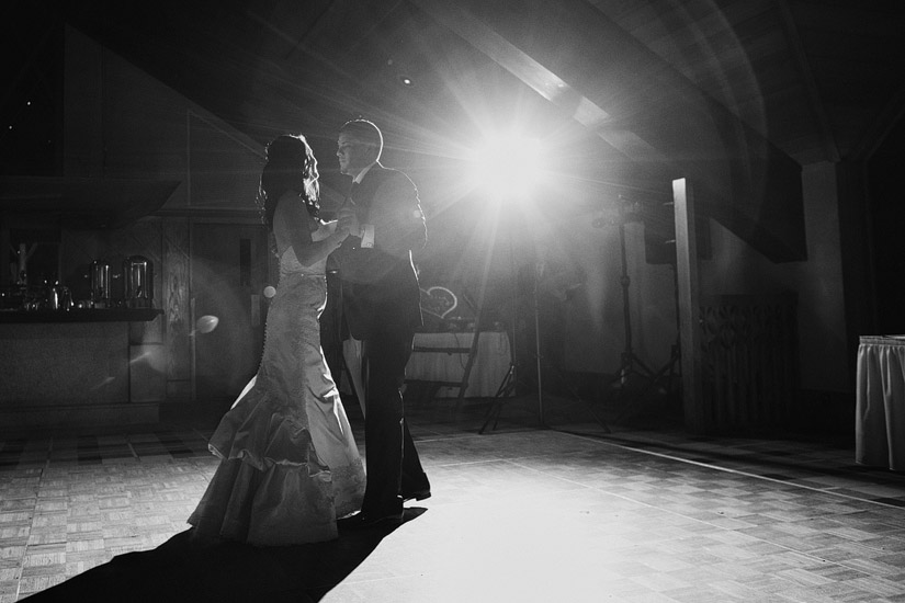 edgewood winter wedding first dance