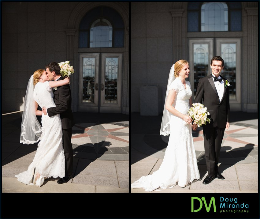 sacramento lds temple wedding photos