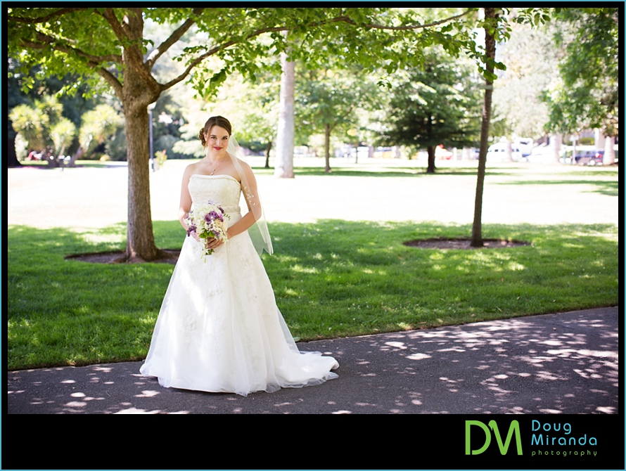sacramento rose garden wedding photos