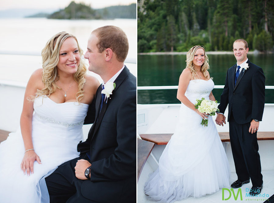 a-bride-and-groom-holding-hands-on-the-tahoe-paradise-boat