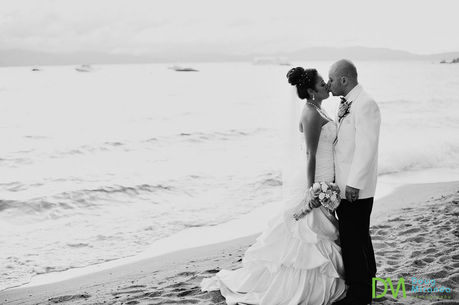 theresa and james kissing on their wedding day