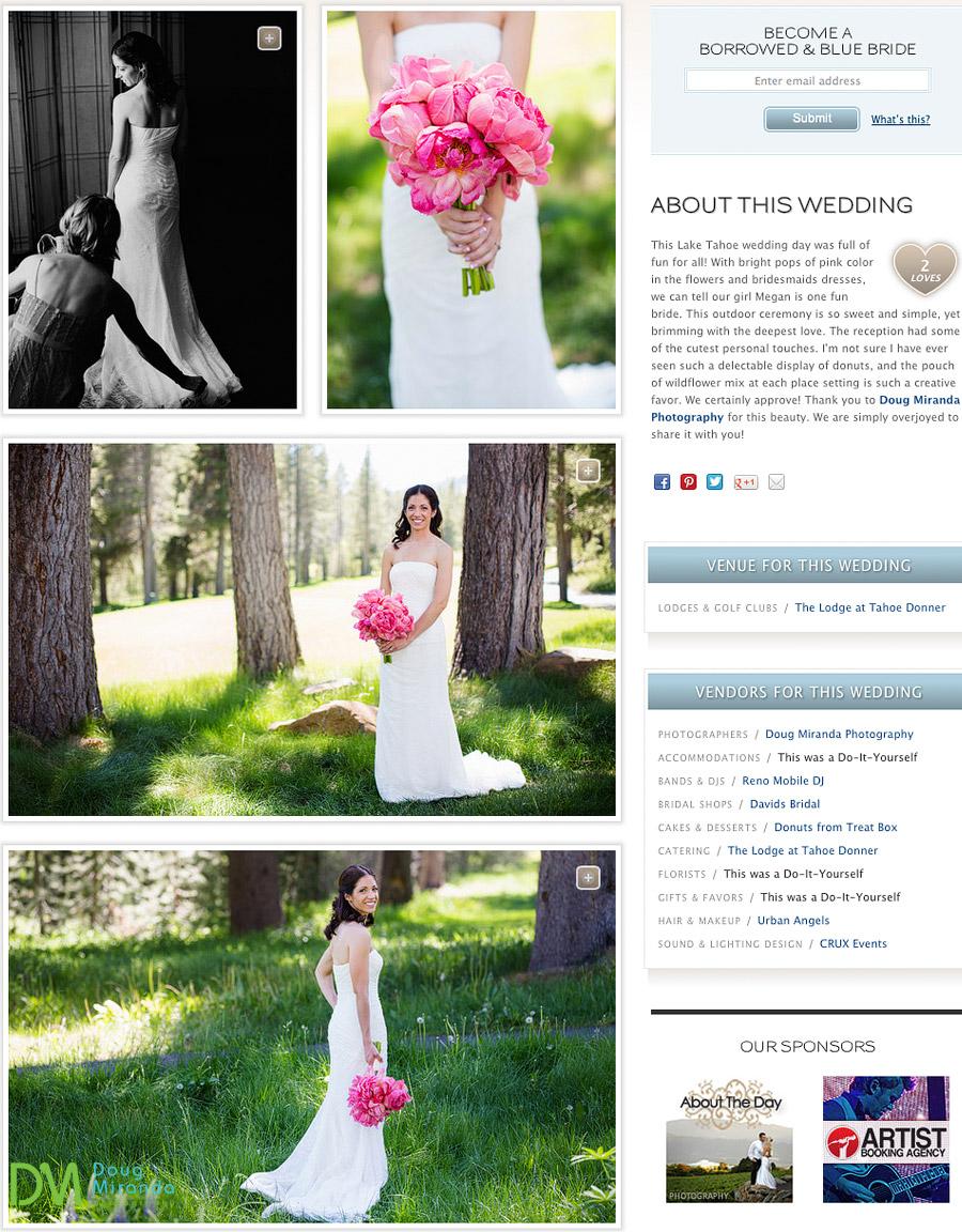 stunning wedding photos at the lodge at tahoe donner wedding