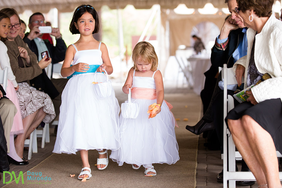 cute flower girls at a zephyr cove resort wedding