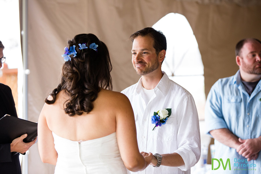 george the smiling groom at his lake tahoe beach wedding