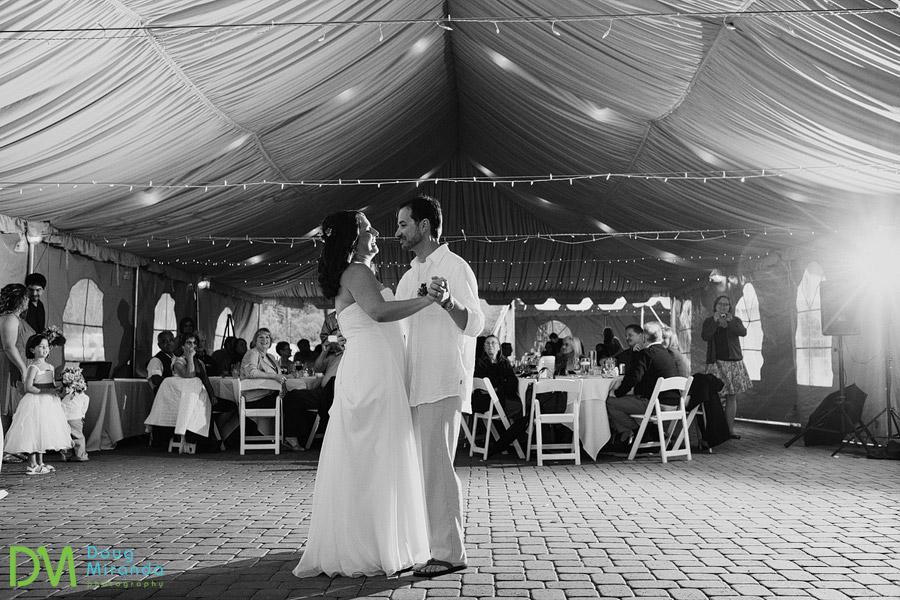 a couples first dance at their zephyr cove wedding