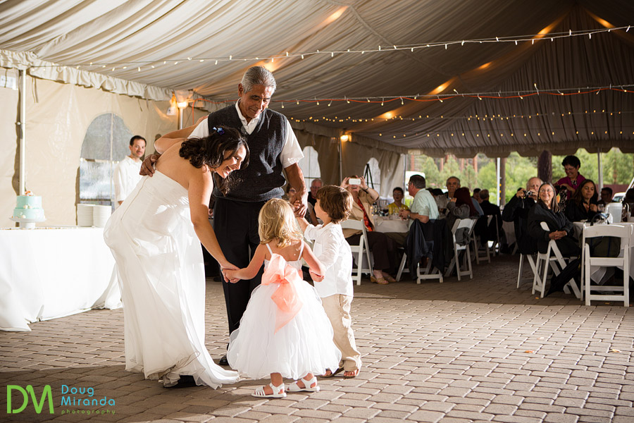 angela dancing with her father and nice and nephew