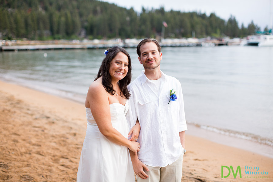 a cute couples wedding photos at zephyr cove