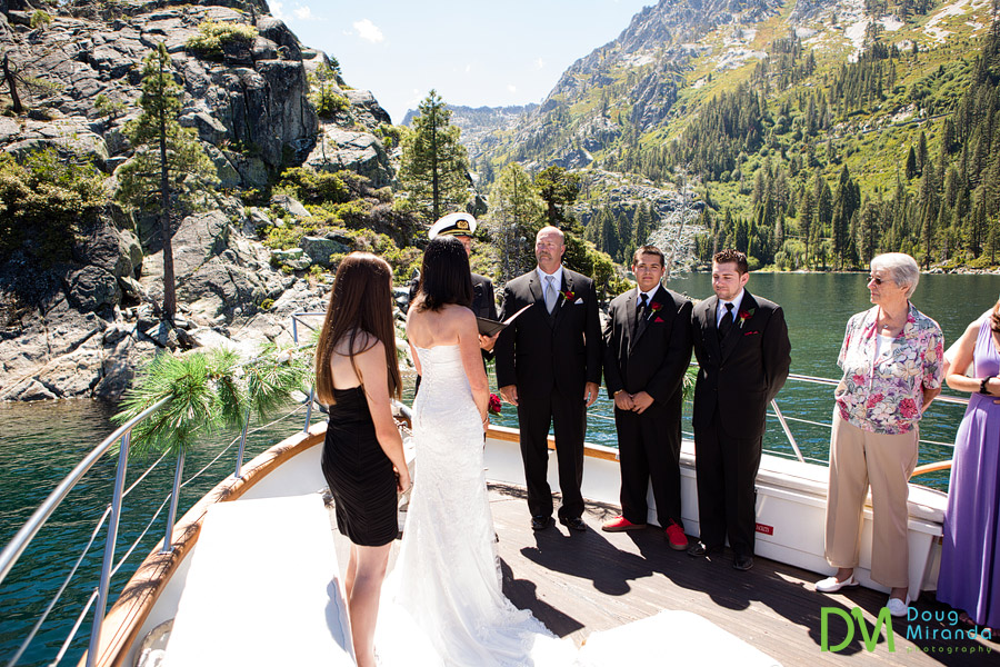 bleu wave wedding photos of a ceremony in emerald bay