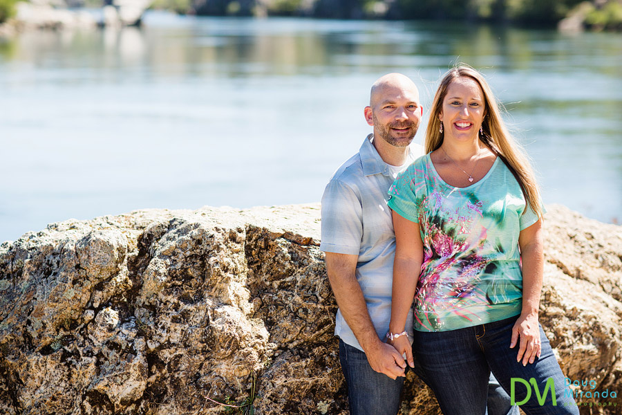 lake natoma engagement photography of jessica and alex holding hands