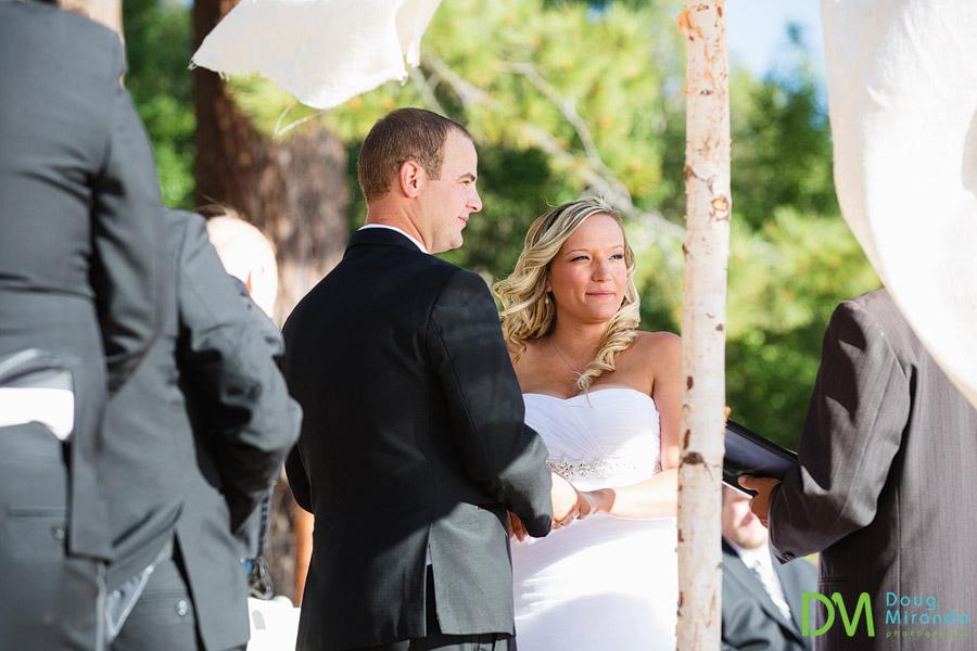 kelsey and travis's lake tahoe beach wedding ceremony