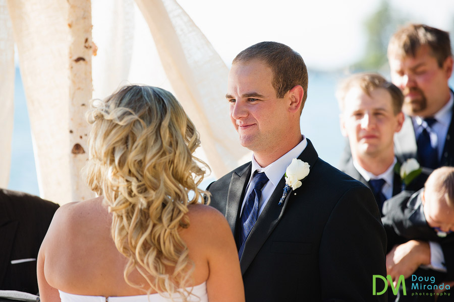 tahoe paradise boat wedding ceremony of travis and kelsey at zephyr cove resort