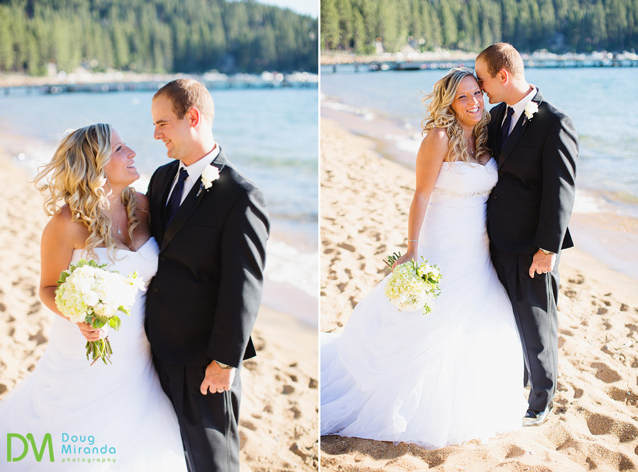 tahoe paradise boat wedding of travis and kelsey on the beach at zephyr cove