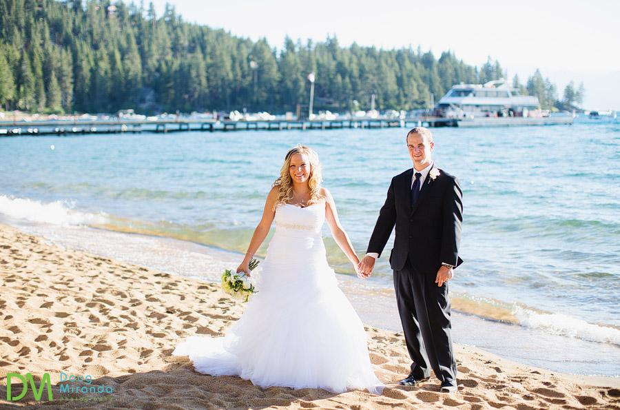 lake tahoe beach wedding photos