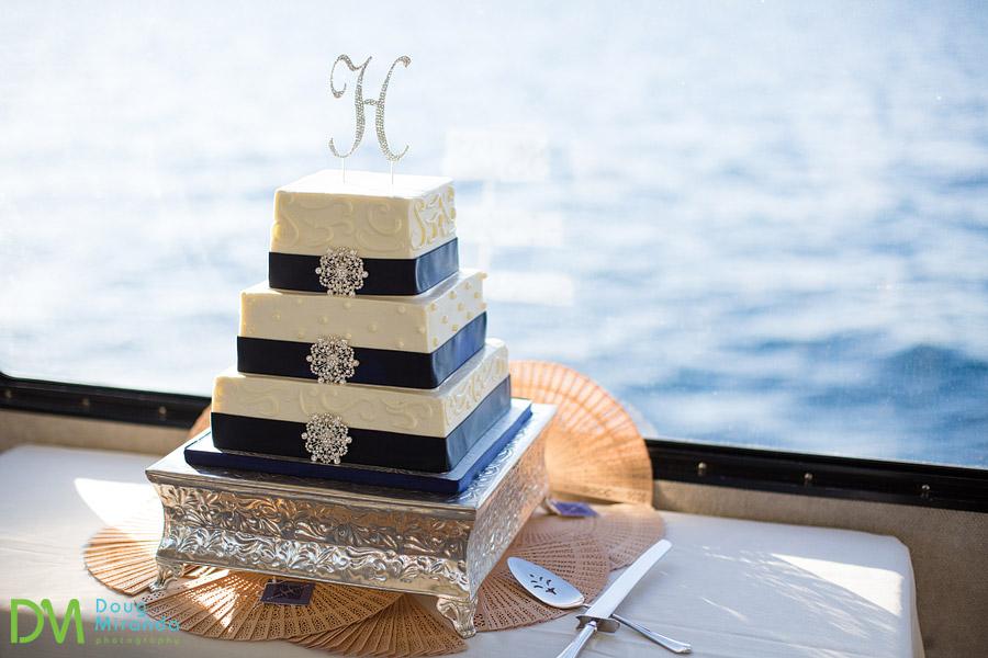 tahoe paradise boat wedding cake