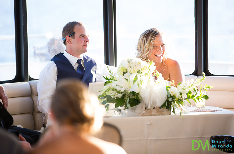 tahoe paradise boat wedding reception