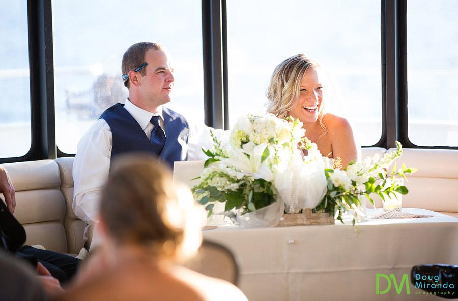 tahoe paradise boat wedding reception