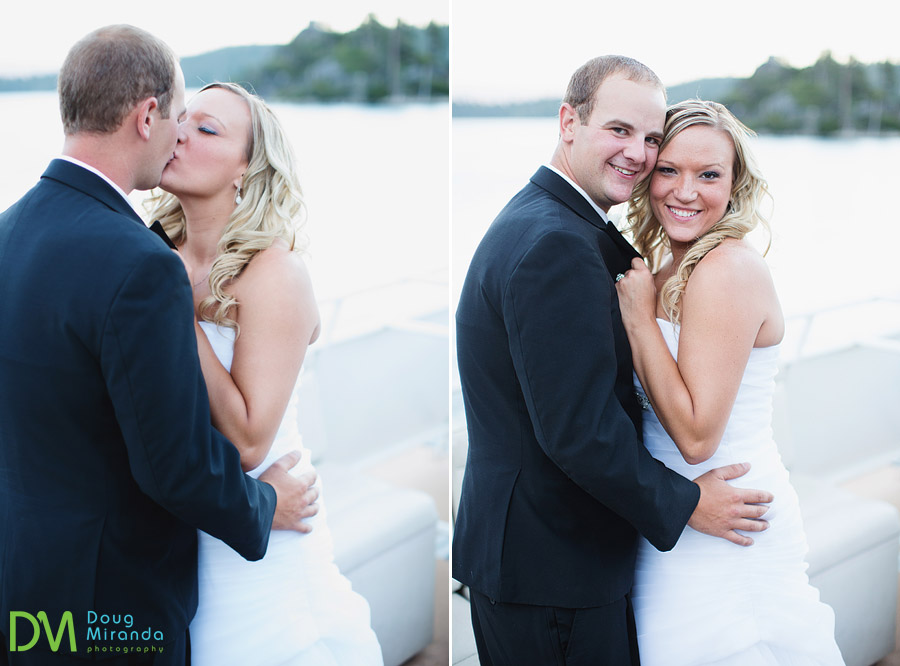 tahoe paradise boat wedding photography in emerald bay