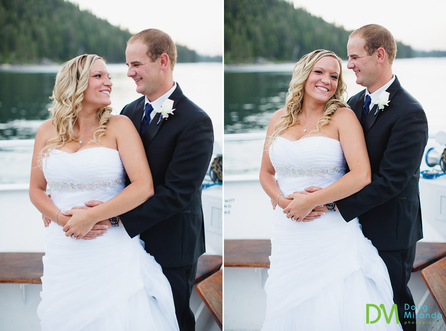 lake tahoe boat wedding photos