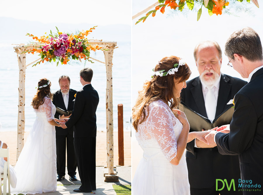 wedding ceremony photos at zephyr cove