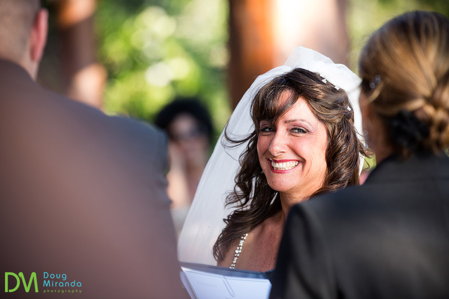 smiling bride at her wedding