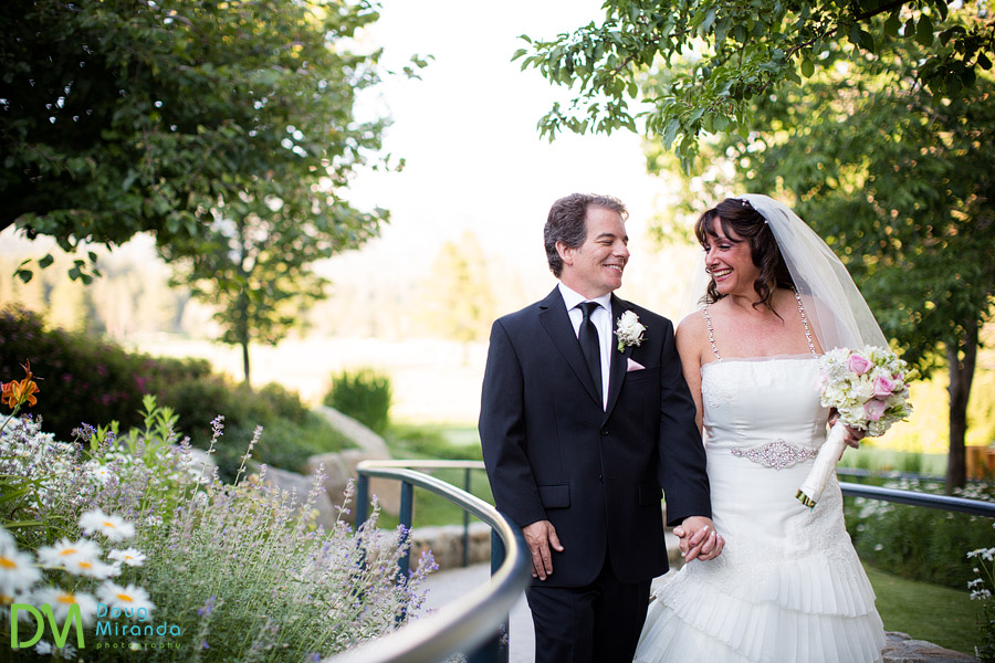 a edgewood tahoe wedding couple walking