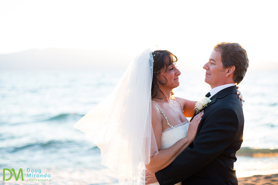 beach wedding photos at lake tahoe