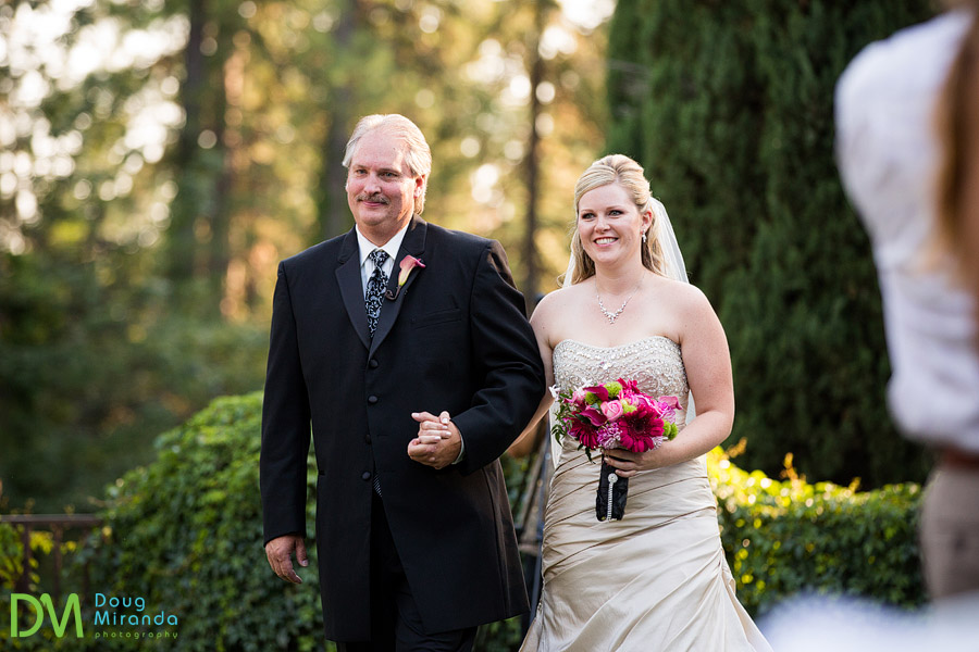 melissa and her dad walking down the aisle