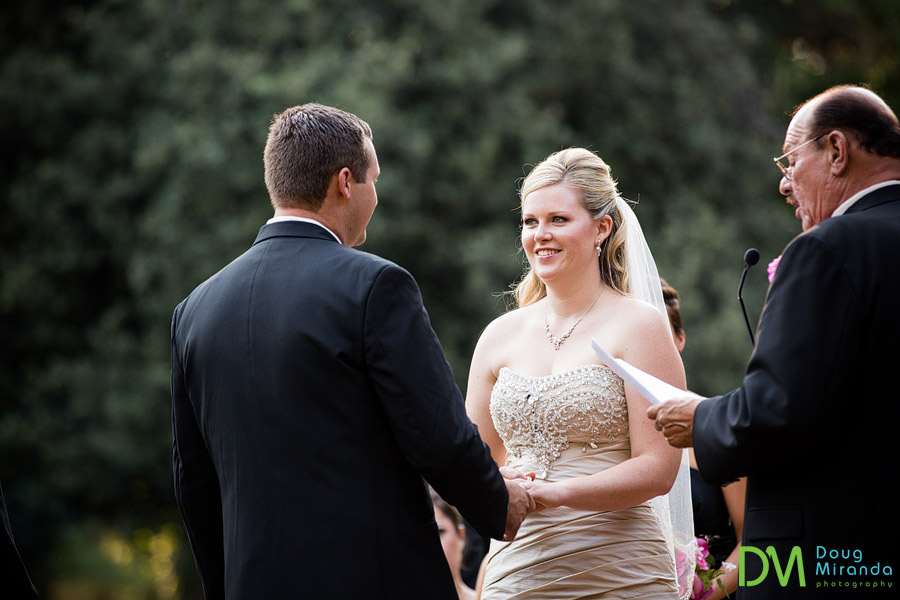 melissa smiling at jerrid during their ceremony